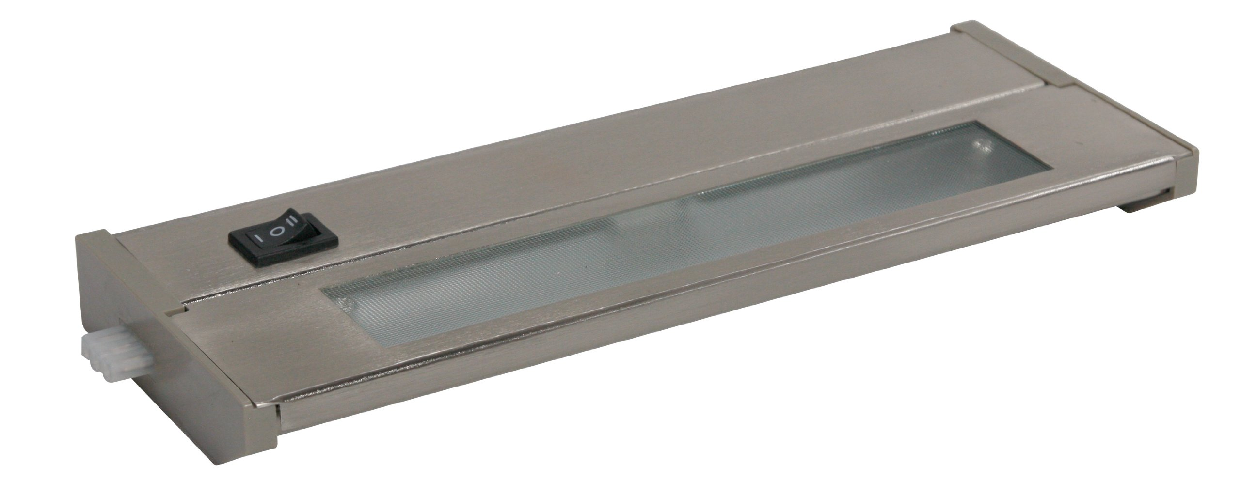 American Lighting 043X-1-BS Priori Xenon Under Cabinet Hardwire Light, 20-Watts, Hi/Low/Off Switch, 120-Volt, 10-Inch, Brushed Steel