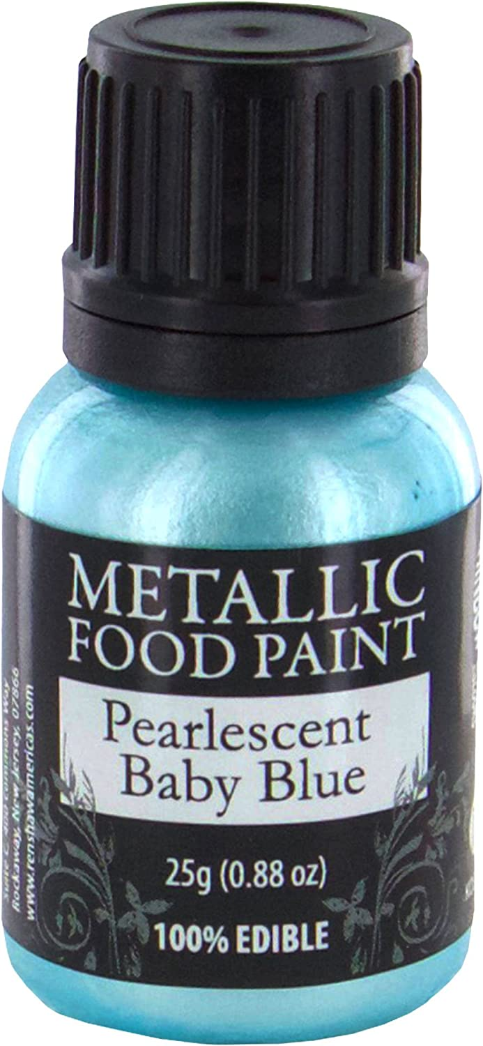 Metallic Food Paint, Pearlescent Baby Blue, by Rainbow Dust