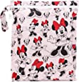 Bumkins Disney Waterproof Wet Bag 12x14, Washable, Reusable for Travel, Beach, Pool, Stroller, Diapers, Dirty Gym Clothes, Wet Swimsuits, Toiletries, Electronics, Toys - Minnie Mouse Classic