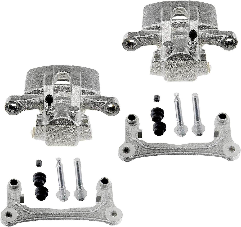 302x10 2x Bremssattel 2x Bremssattelhalter Hinterachse links rechts f/ür Bremsscheibe