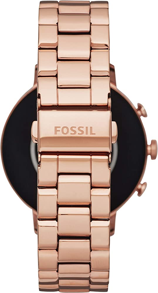 Fossil Women's Gen 4 Venture HR Heart Rate Stainless Steel Touchscreen Smartwatch, Color: Rose Gold (Model: FTW6011)