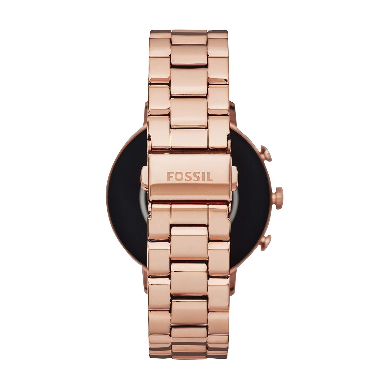 d9bc8c3397ac Amazon.com  Fossil Women s Gen 4 Venture HR Heart Rate Stainless Steel  Touchscreen Smartwatch
