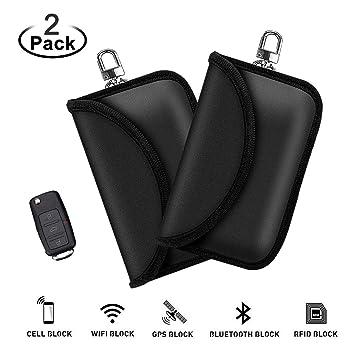EasyULT 2 Paquetes Mini Faraday Bolsa para Llaves de Coche Funda ...