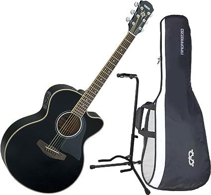 Yamaha cpx500iii acústica guitarra eléctrica Negro w/funda y ...