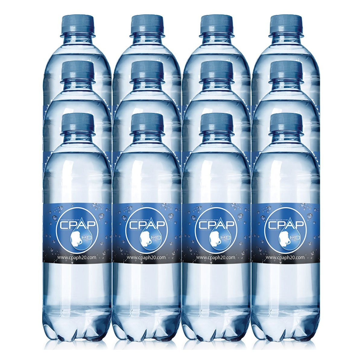 16.9 oz CPAP H20 Premium Distilled Water (Pack of 12)