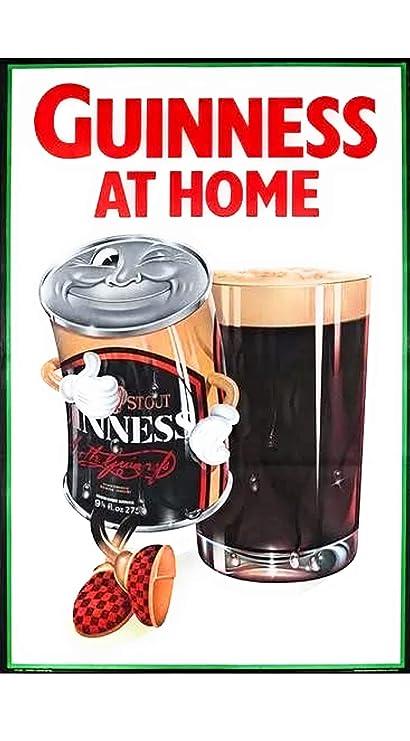Guinness - Placa retro de cerveza de metal para garaje, pub, hombre y cueva