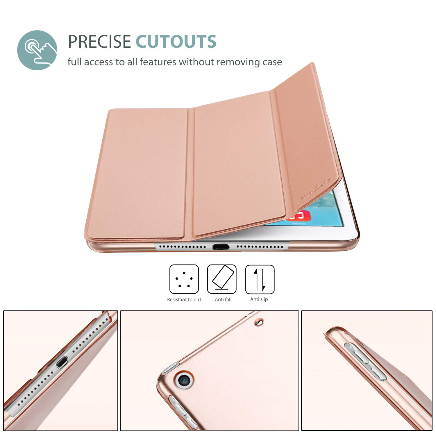 Black Ultra Slim Lightweight Stand Protective Case Shell A1474 A1475 A1476 ProCase iPad Air 1st generation Smart Case Cover for Apple iPad Air Auto Sleep Wake