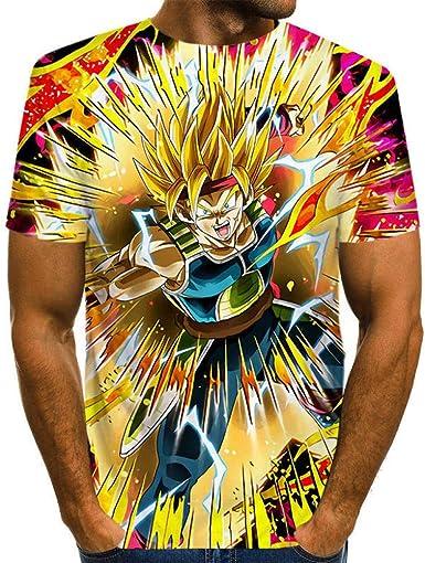 Camisetas, Dragon Ball Z Pattern 3D - Hombre de Gran tamaño, Manga Corta, Camiseta Unisex con Estampado Digital Saiyan Top Top Dragon_Ball_L: Amazon.es: Ropa y accesorios