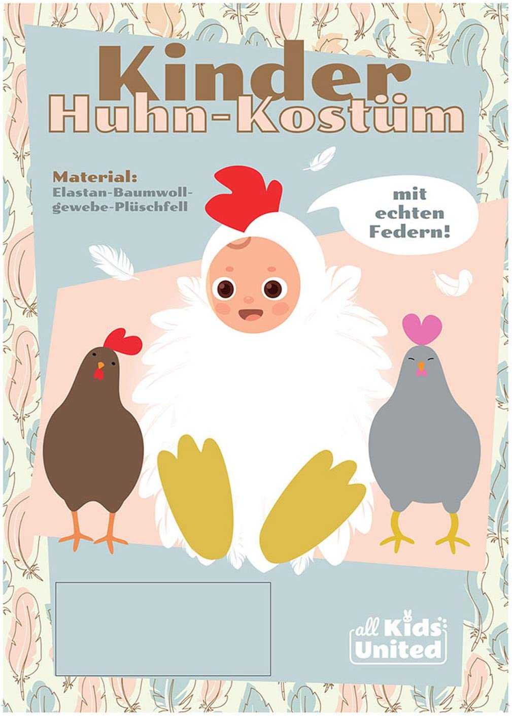 Kinderkostüm Disfraz de Pollo para niños – Bonito Disfraz de Pollo ...