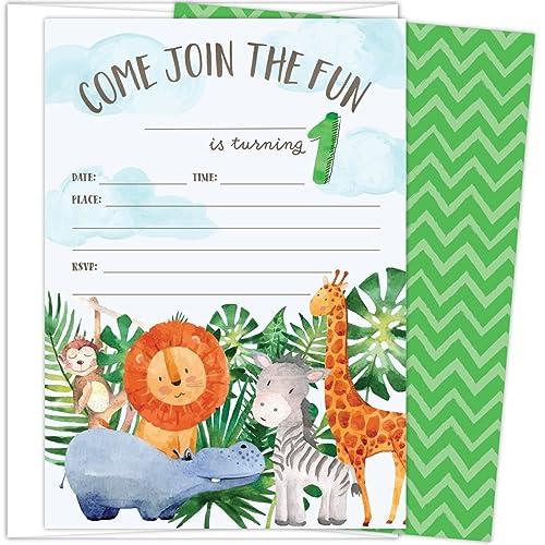 1st birthday boy invitations amazon com