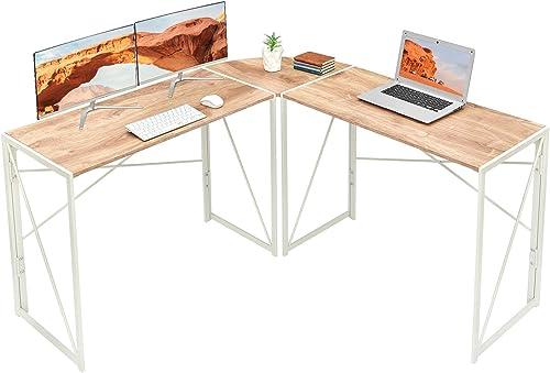 Best modern office desk: Corner Desk Folding Table Writing Computer Desk L-Shaped Home Office Desk Industrial Study Table