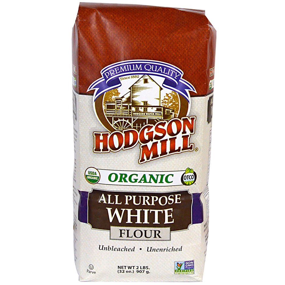 Hodgson Mill Organic All-Purpose White Flour, Unbleached, 2 LB (Pack of 6)   Unbromated & Unenriched