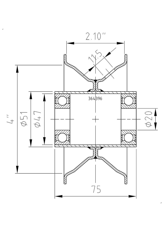 """Komplettrad 3.50-6 4PR Kenda K406-3 Rib Nabe 20x75mm für Heuwender /""""NEU/"""""""