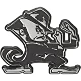 University of Notre Dame Leprechaun Chrome Metal Car Emblem