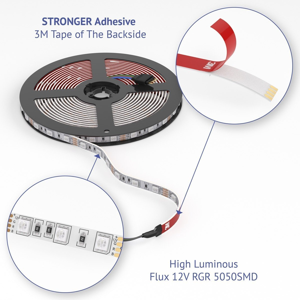 Blisso 2018new Led Strip Lights Kit 328ft 300 Leds Holiday Lighting Sequencer Circuit Diagram Super Smd 5050 Rgb Light Extra Adhesive 3m Tape With 44 Key Remote Controller