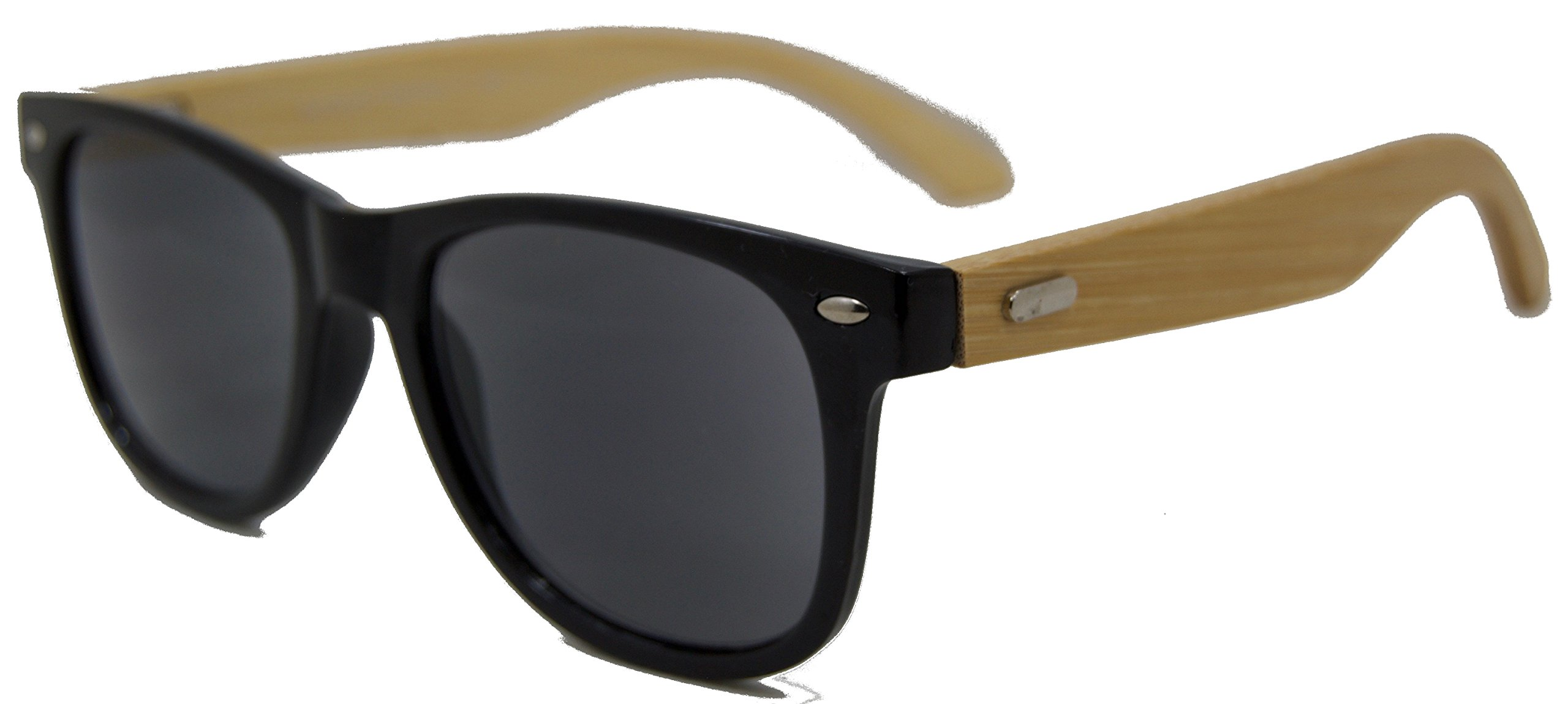 In Style Eyes Woodster, Classic Wayfarer Bamboo Reading Sunglasses/Black/2.75 by In Style Eyes