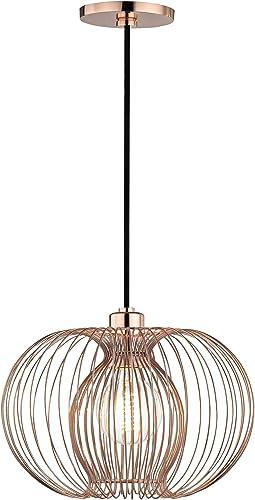 Mitzi H181701S-POC Jasmine – One Light Small Pendant, Polished Copper Finish