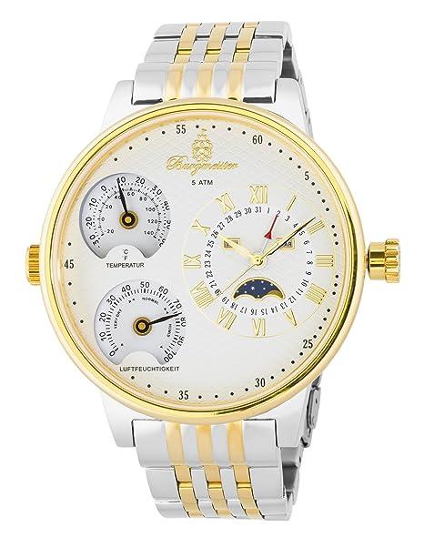 Burgmeister reloj de cuarzo de hombre XXL Montana, BM309-917: Amazon.es: Relojes