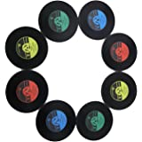 KEEPING ONE® Brand New 8 x Retro CD Record Vinyl Coffee Drink Cup Mat Coasters Chic Silicone Tableware