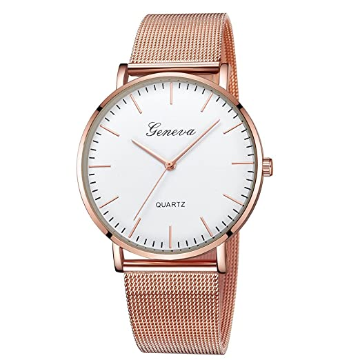 ... Sale DYTA Easy Reader Watches with Stainless Steel Band Simple Watches White Face Ladies Watches on Clearance Under 10 Relojes De Mujer En Oferta Gifts ...