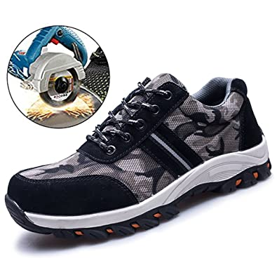 05a3a4aa9130 Amazon.com: SUADEX Steel Toe Shoes Men, Women's Work Safety ...