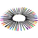 48 Colors Gel Pens Includes Glitter/Neon/Gouache/Metal Pens Marking Highlighting Drawing for Students Coloring Books