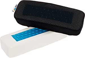Mindful Design Cooling Gel Memory Foam Arm Rest Pad Set for Home Office Chair - Wrist and Carpal Tunnel Relief