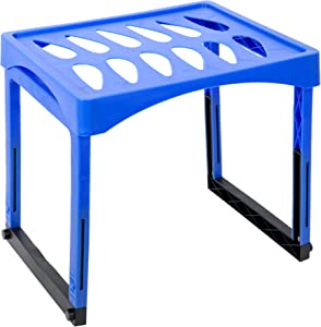Office Works Extendable Height Locker Shelf with Legs for Gym, School, and Office, 10 x 15.25 inches, Blue