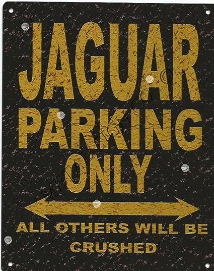 JAGUAR PARKING METAL SIGN RUSTIC VINTAGE STYLE 8x10in 20x25cm garage