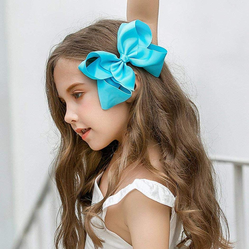 624b842ebf7d Amazon.com   OD lover Girls Fashion Ribbon Big Bow Hair Alligator Clips  Headwear Clips   Beauty