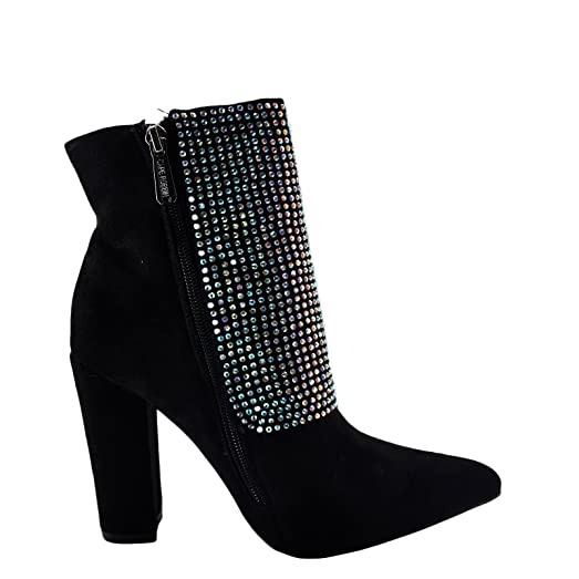 Beautiful 35 Women's Shoes Cape Robbin Beautiful 35 Gem Accented Ankle Bootie