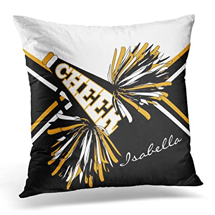 Amazoncom Emvency Throw Pillow Cover Born Cheerleader In Black