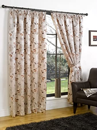 Henley orange pair tape top curtains 60