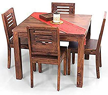 Super Modway Mango Wood Dining Table Set With 4 Chairs For Living Room Furniture Teak Finish Machost Co Dining Chair Design Ideas Machostcouk