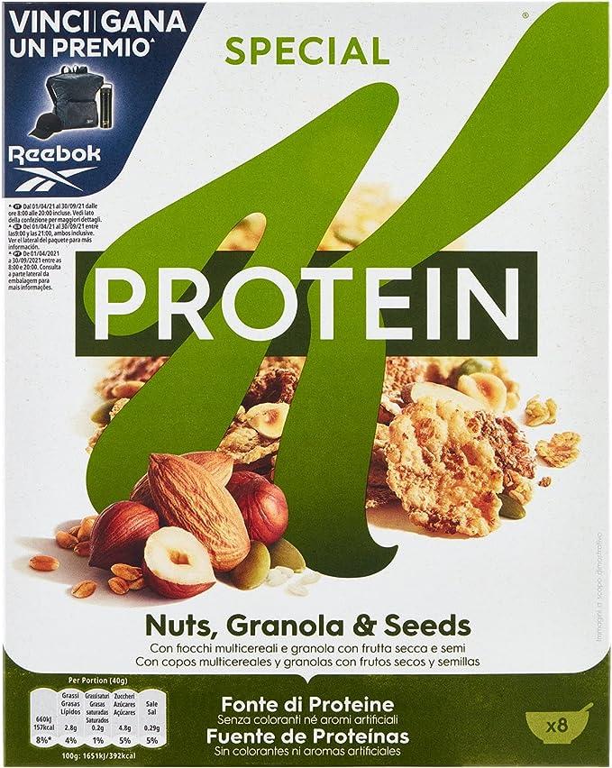 Kelloggs Special K Protein Frutos secos Cereales - 330 g ...