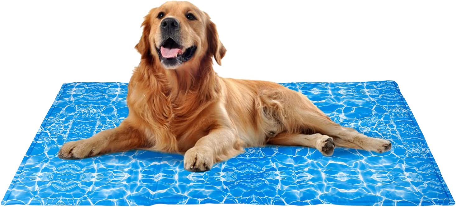 Alfombra Refrigerante para Perros Gatos Mascotas, Manta Refrescante, Autoenfriamiento, No Tóxico, Colchón Impermeable para Verano XL (120x70cm)