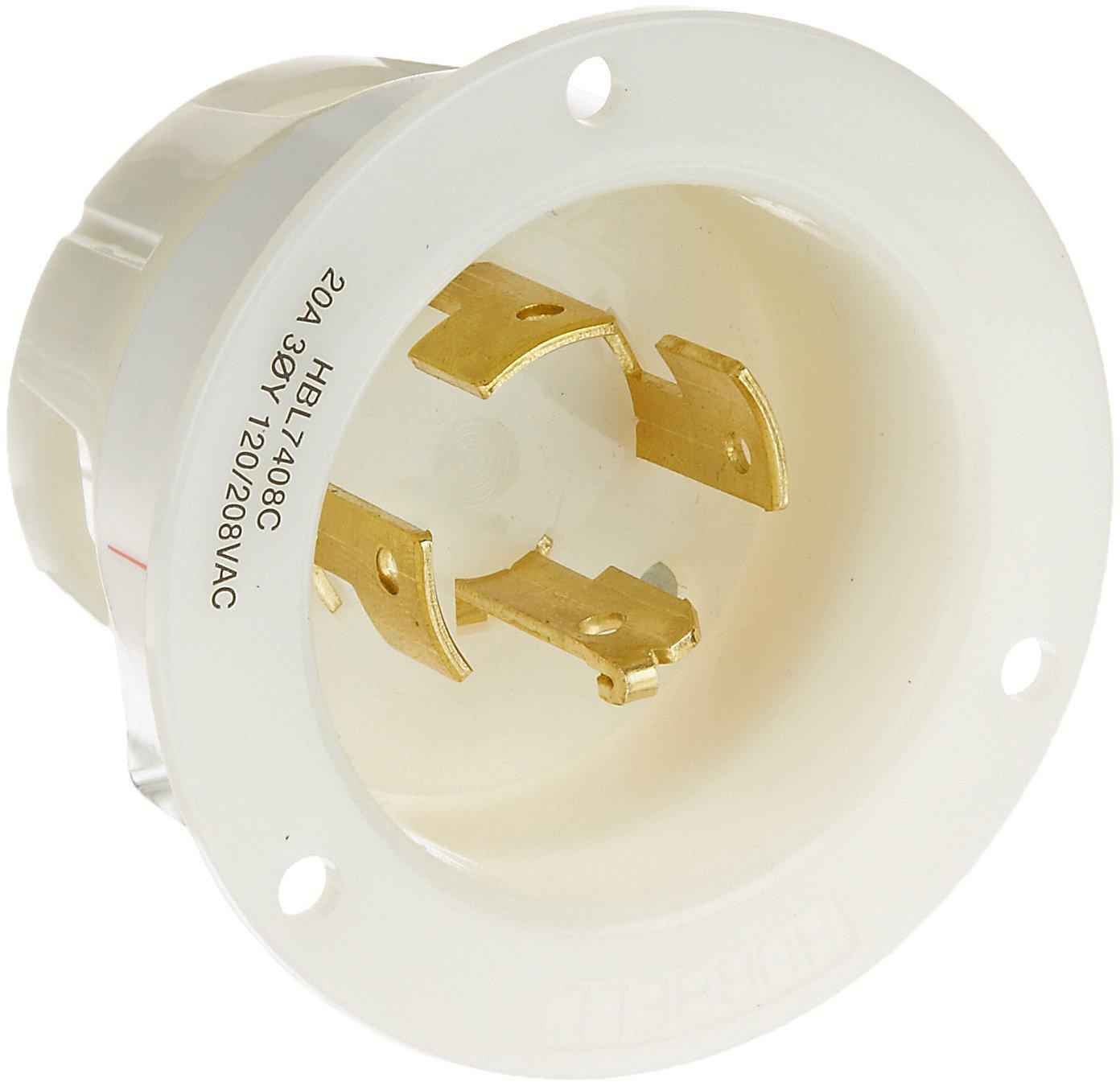 hubbell wiring systems hbl7408c wp2 insulgrip twist lock wall plate rh amazon com