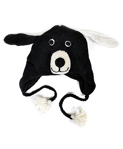 Amazon.com  100% Wool  Hat-imals  Plush Knit Winter Hats (Wool Collection) ( Black Doggy (AHW100))  Clothing d934092c0364