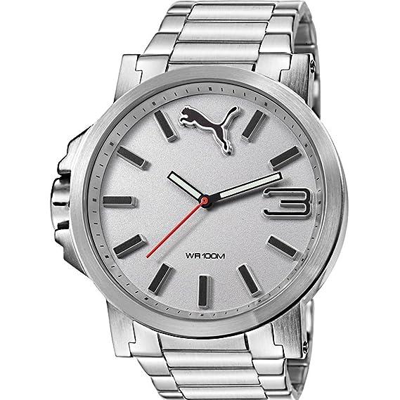 d9c9b8267 Reloj PUMA Motorsport de metal color plata de gran tamaño 3HD.: Puma ...