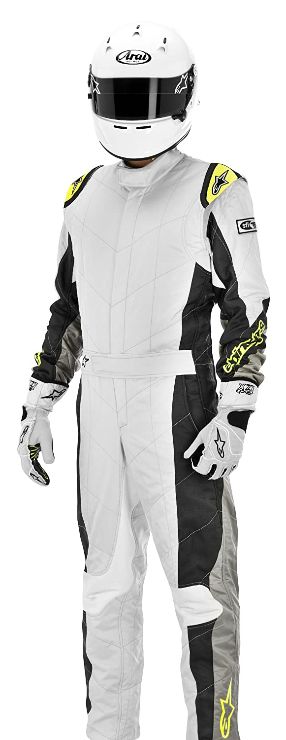 3354113-195-46 Alpinestars Silver//Yellow//Fluorescent Size-46 GP Tech Suit