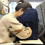 爱TA给TA健康午休 旅行睡觉必备旅游神器 便携式长途飞机充气枕头便携充气u型抱枕办公室午睡靠枕 (藏青色)