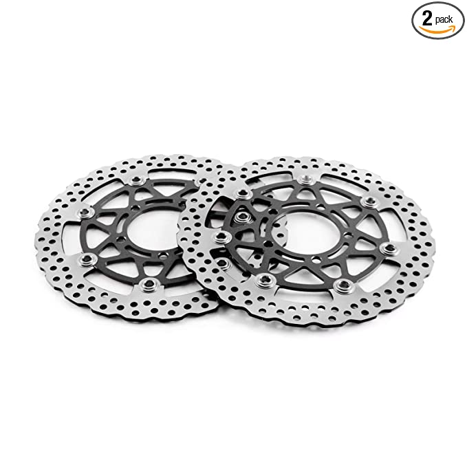 Amazon.com: 2PC ANUESN Motorcycle Front Brake Disc Rotors ...