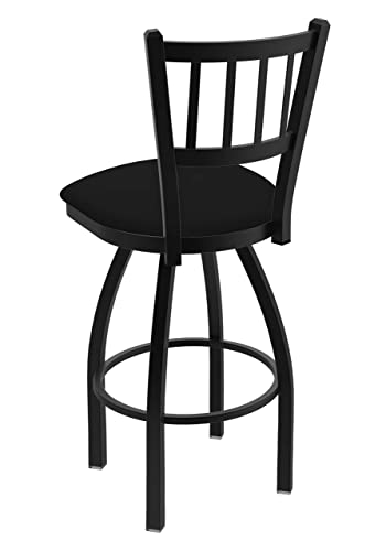 Holland Bar Stool Company 810 Contessa 25-Inch Counter Stool with Black Wrinkle Finish, Black Vinyl Seat and 360 Swivel