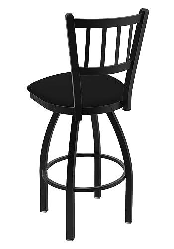 Holland Bar Stool Company 810 Contessa 25-Inch Counter Stool with Black Wrinkle Finish, Black Vinyl Seat and 360 Swivel