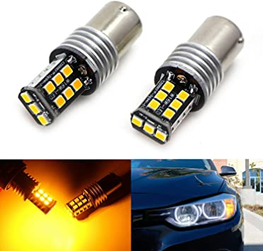 3x Brighter Amber Canbus Error Free LED Bulbs For BMW 1 2 3 4 Front Turn Signals