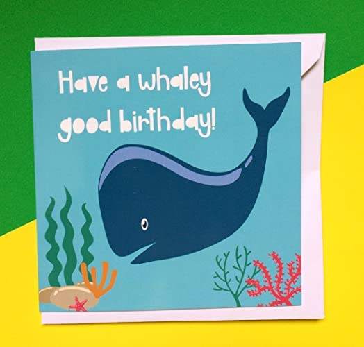 Birthday Cards Kids Under The Sea Birthday Cards Whale Birthday