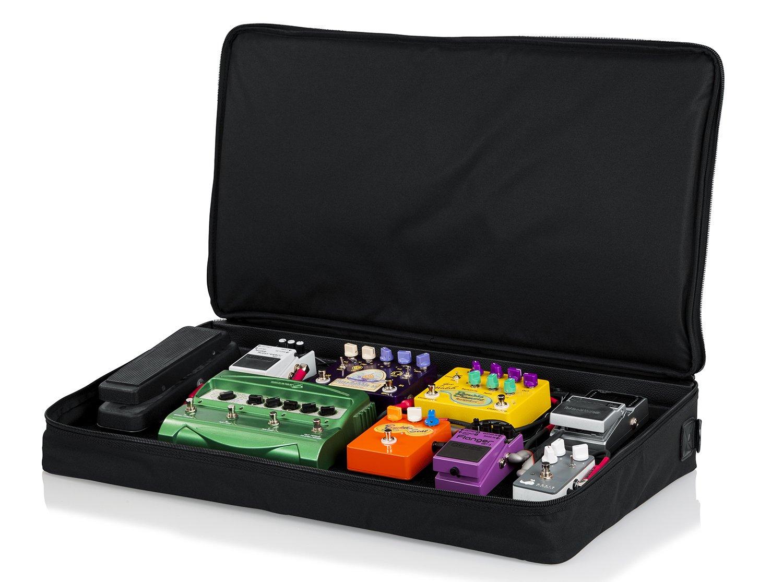 Gator pedales de guitarra de madera 30 x 40,64 cm bolsa de transporte de nailon con candado de - negro: Amazon.es: Instrumentos musicales