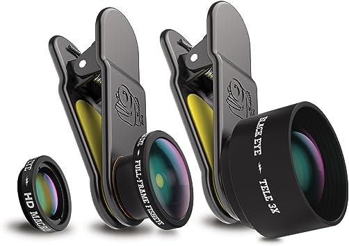 Black Eye Pro Kit 3in1 con Fullframe-Fisheye, HD Macro y Tele 3X ...