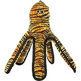 Tuffy Mega Creature Large Octopus Dog Toy, Tiger Print