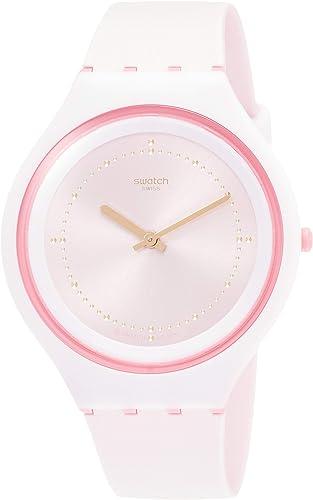 Amazon Com Swatch Skinblush Pink Dial Ladies Watch Svup101